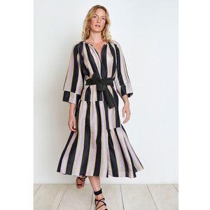 Apiece Apart | Striped Maxi Stella Shirred Dress